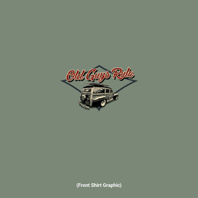 Old Guys Rule - Classic Woodie -  Heather Military Green - Front Graphic