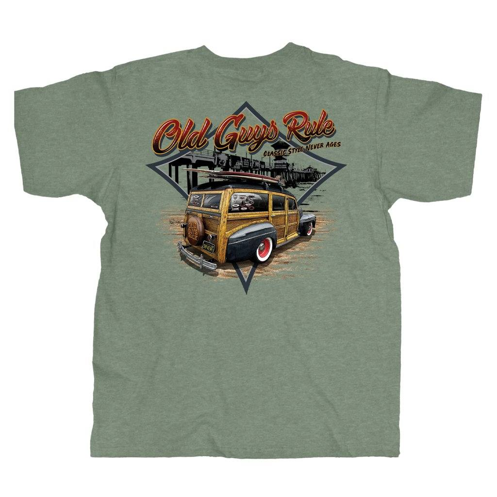 Old Guys Rule - Classic Woodie -  Heather Military Green - Main View