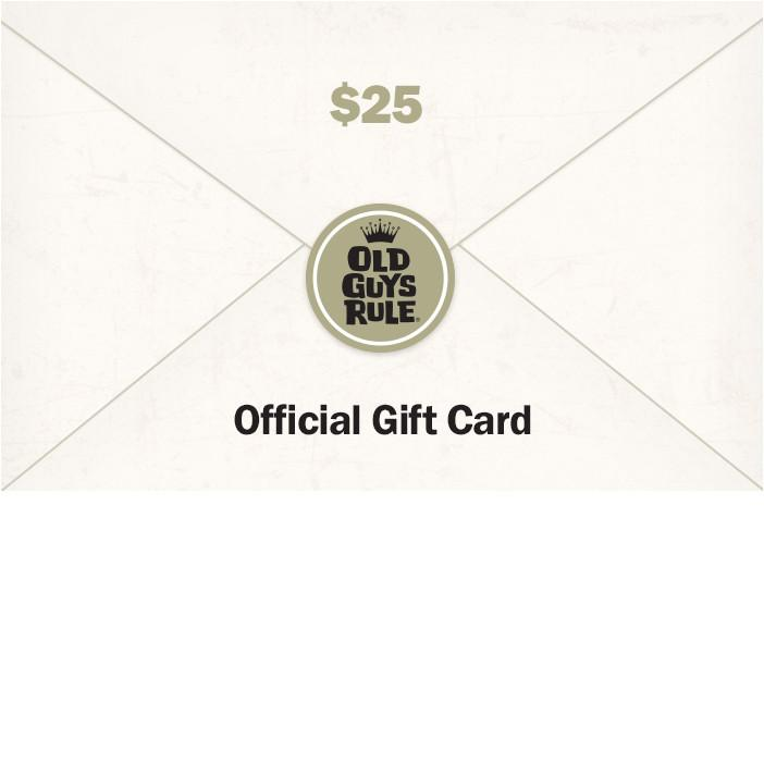 Old Guys Rule Gift Card