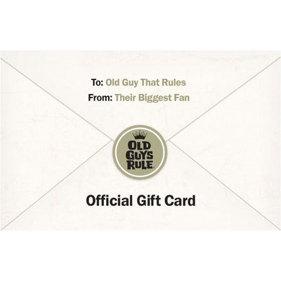 Old Guys Rule - Gift Card - Main view