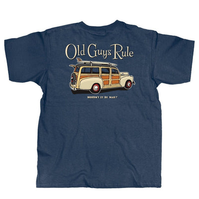 Old Guys Rule - Woodn't It Be Nice - Navy Heather T-Shirt - Main View