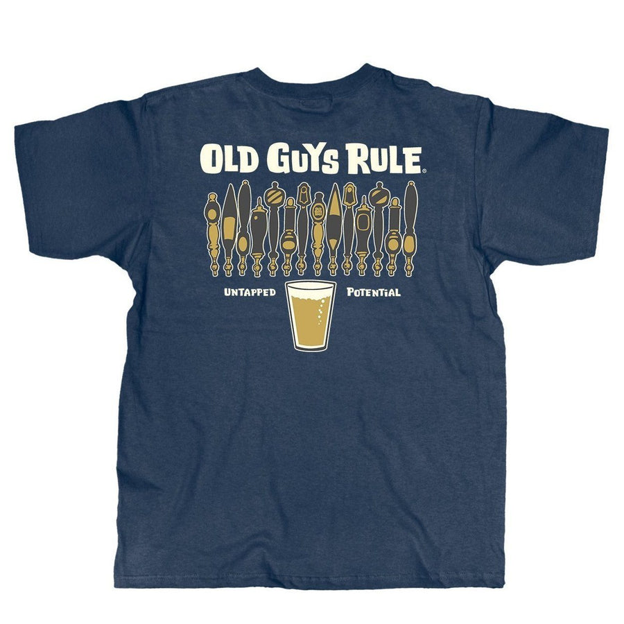 7d6e2349 Old Guys Rule - Untapped Potential - Navy Heather T-Shirt - Main View