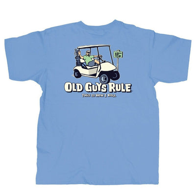 Old Guys Rule - This Is How I Roll - Kings Blue T-Shirt - Main View