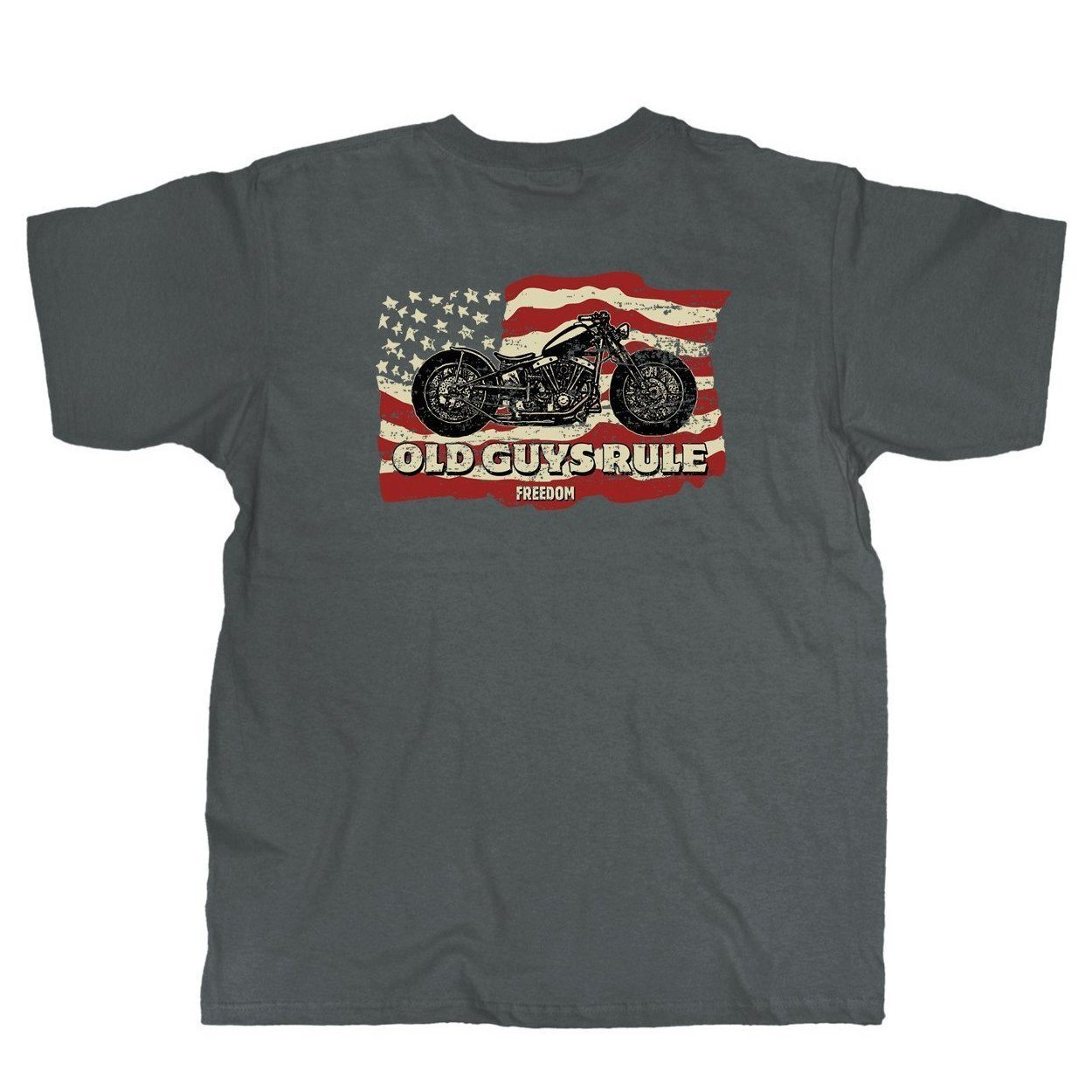 Old Guys Rule - Freedom Ride - Charcoal T-Shirt - Main View