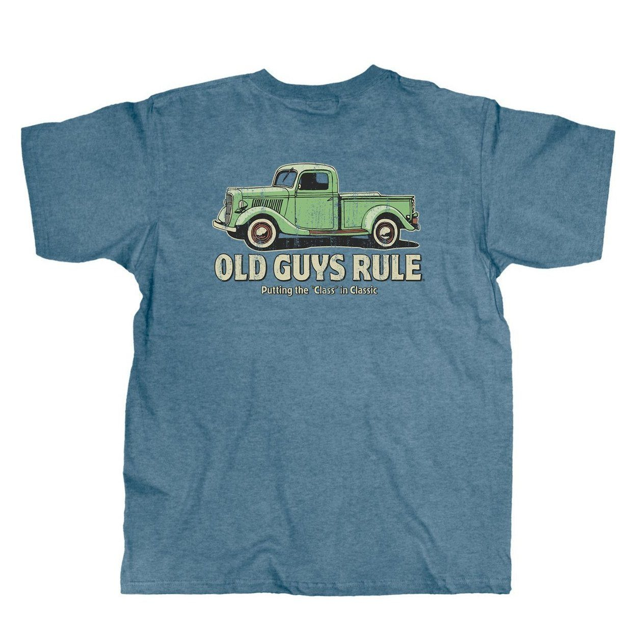 Old Guys Rule - Classic Truck - Heather Indigo T-Shirt - Main View