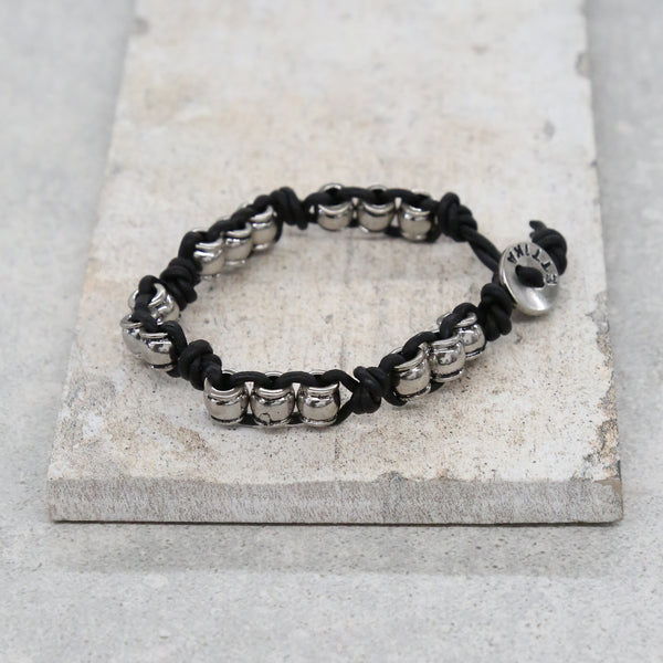 Shot In The Dark Bracelet in Black and Silver