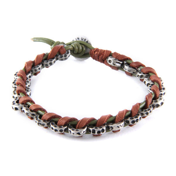 Protection Bracelet in Rust & Olive