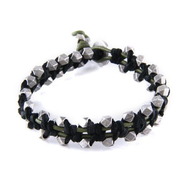 Outlaw Bracelet in Black & Olive