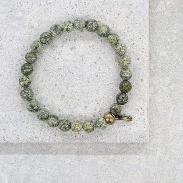 Hot Lead Bracelet in Semi-Precious Stone and Brass