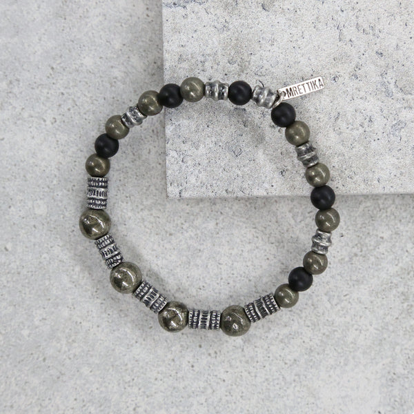 Charged to the Maximum Bracelet in Pyrite