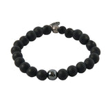 Can't Be Friends Bracelet in Onyx and Antique Silver