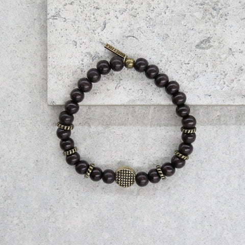 His Sign Bracelet in Dusk and Brass