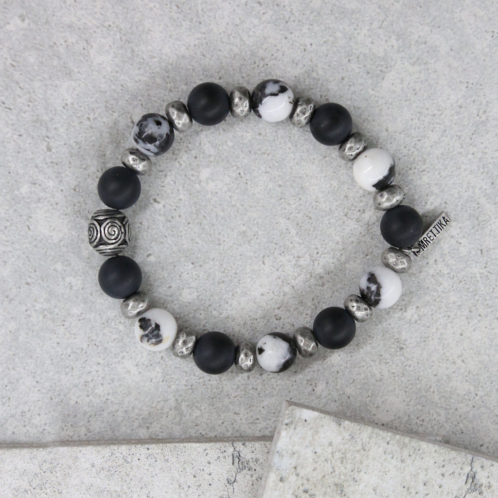 Storm Be Brew Bracelet in Black and Antique Silver