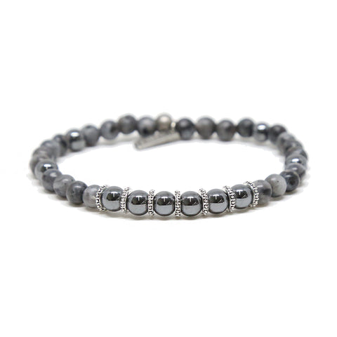 Gone Platinum Bracelet in Hematite and Silver Ox