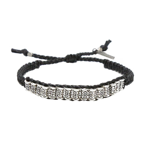 Remmy Bracelet in Black and Silver Ox