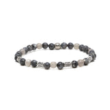 Grey Matter Bracelet in Grey and Silver Ox