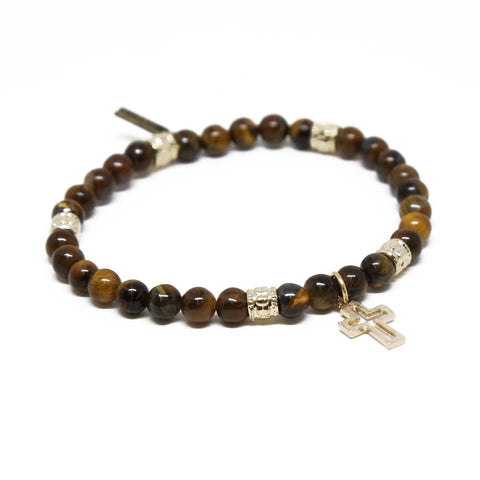 Keeping the Faith Bracelet in Tiger's Eye and Gold