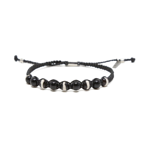 The Mighty Few Bracelet in Black and Silver Ox