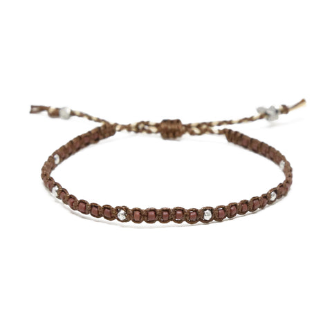 Island Voices Bracelet in Brown and Silver Ox
