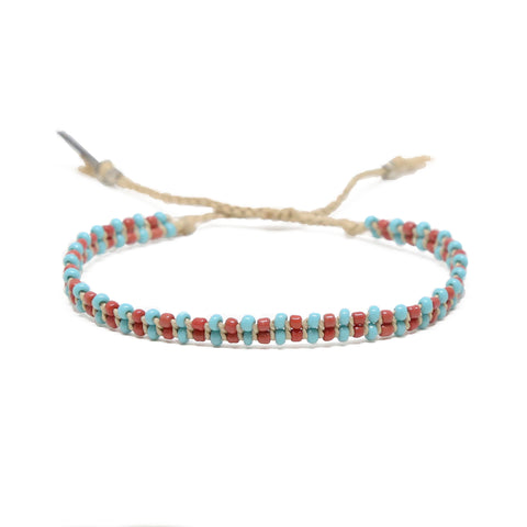 About Those Vibes Bracelet in Turquoise, Brown, and Tan