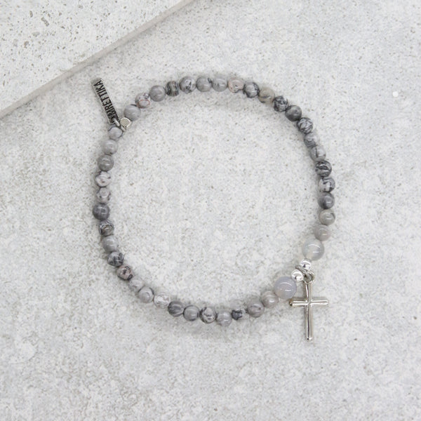 Cherished Memories Bracelet in Grey and Silver Ox
