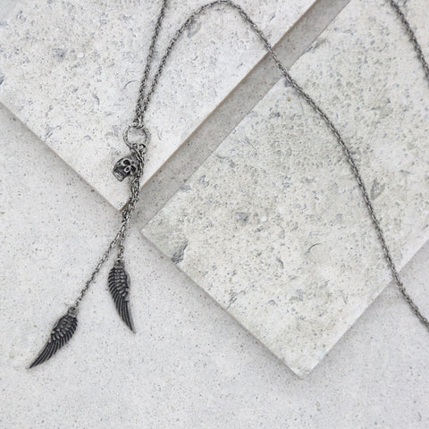 Take Flight Necklace in Silver Ox