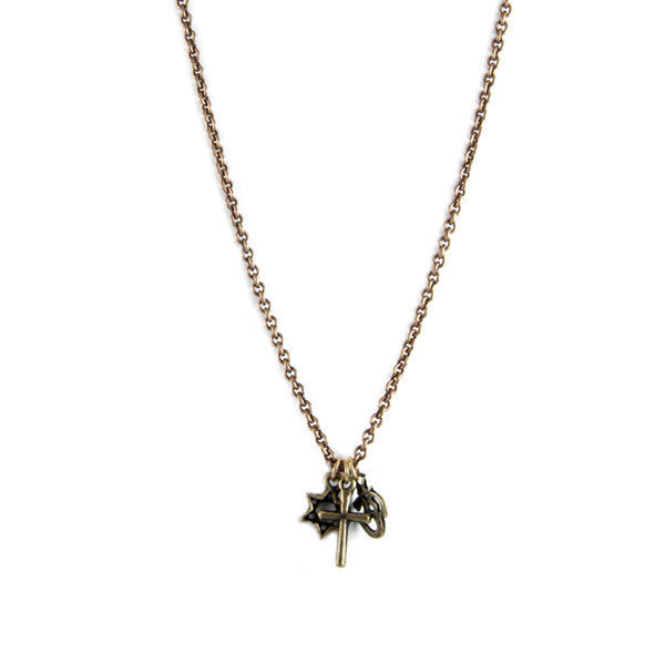 Brass Co-Exist Chain Necklace