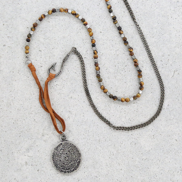No Stone Unturned Necklace in Tiger
