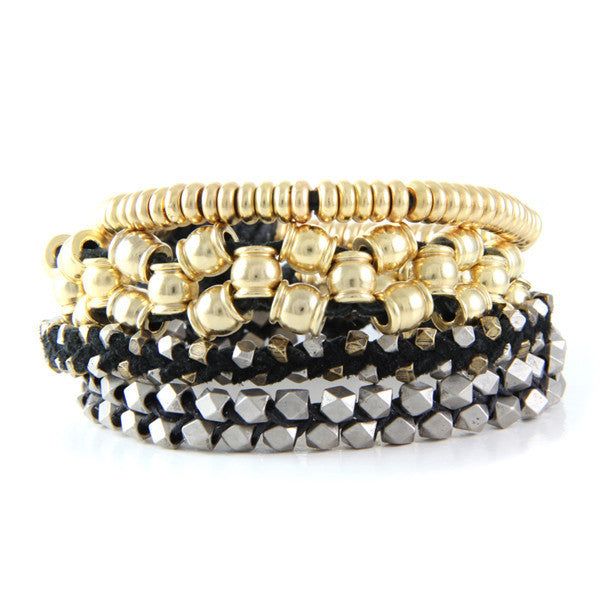 Black and Gold Bold Stack