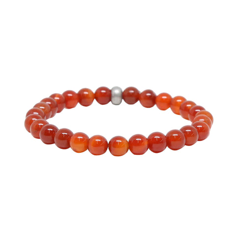 Bangle Banger Bracelet in Carnelian and Silver Ox
