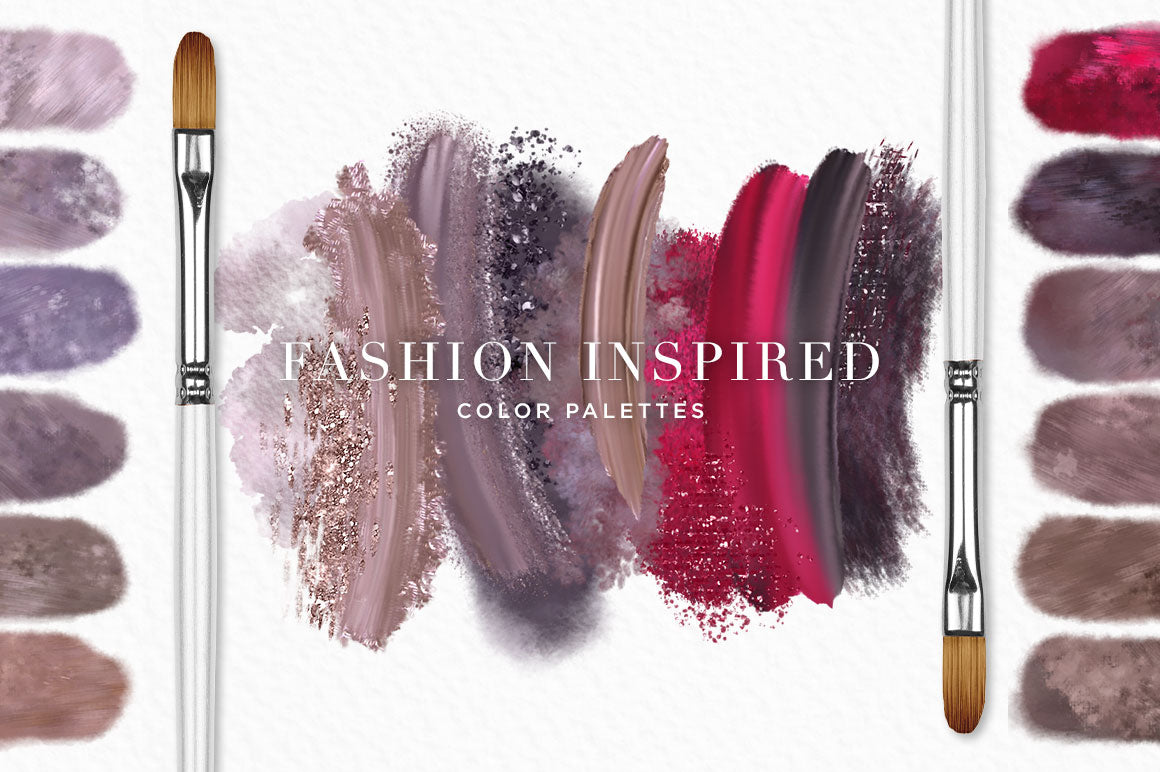 Fashion inspired color palettes: Paint in the colors of the runway!