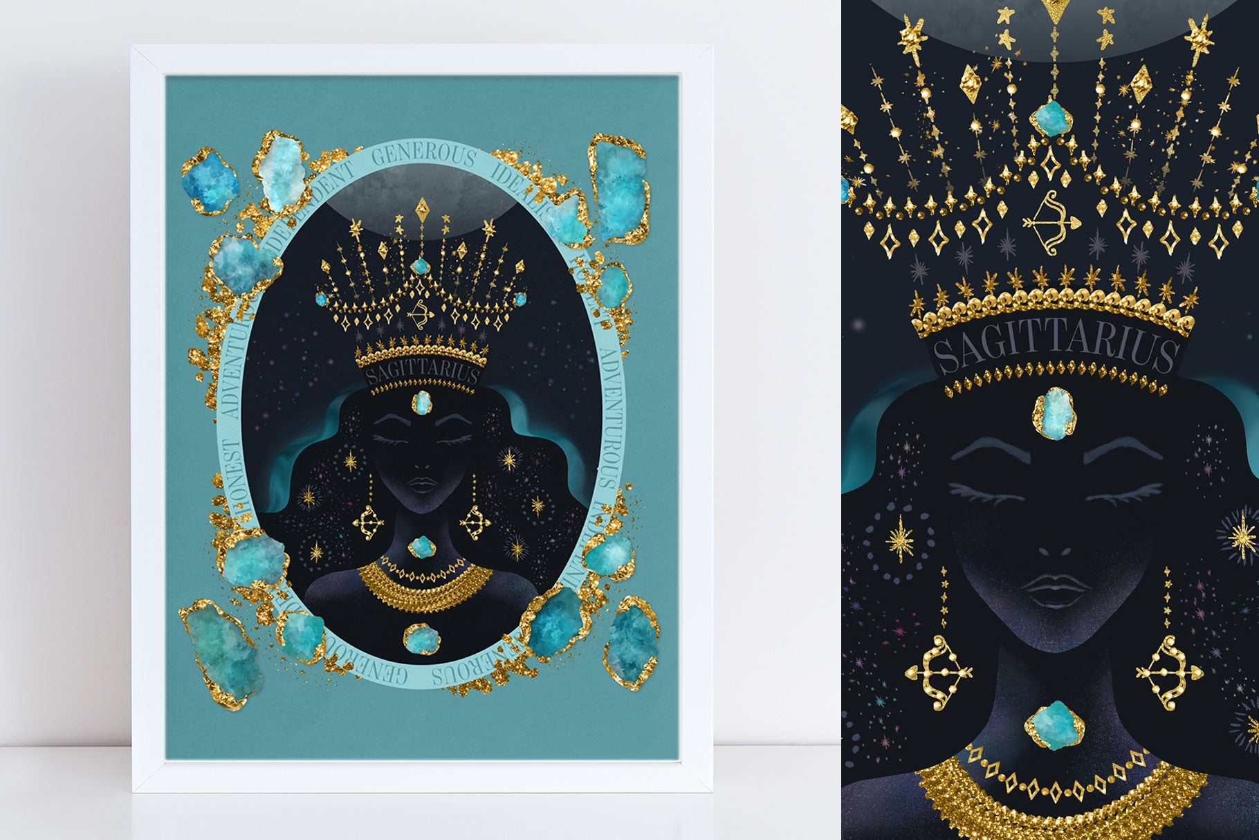 "New ""Zodiac Queen"" Luxe Birthstone Printable 