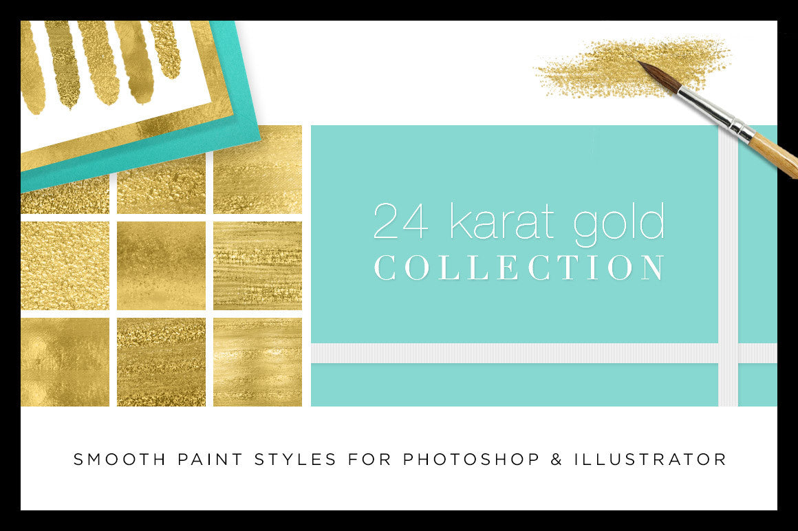 The Perfect Gold: Introducing the all new 24 Karat Gold Collection for Photoshop and Illustrator