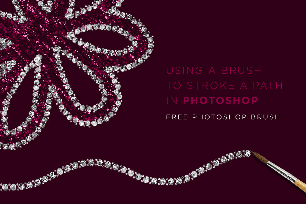 Photoshop Tip: Using a brush to stroke a path + Free Jewel Trim Brush Download
