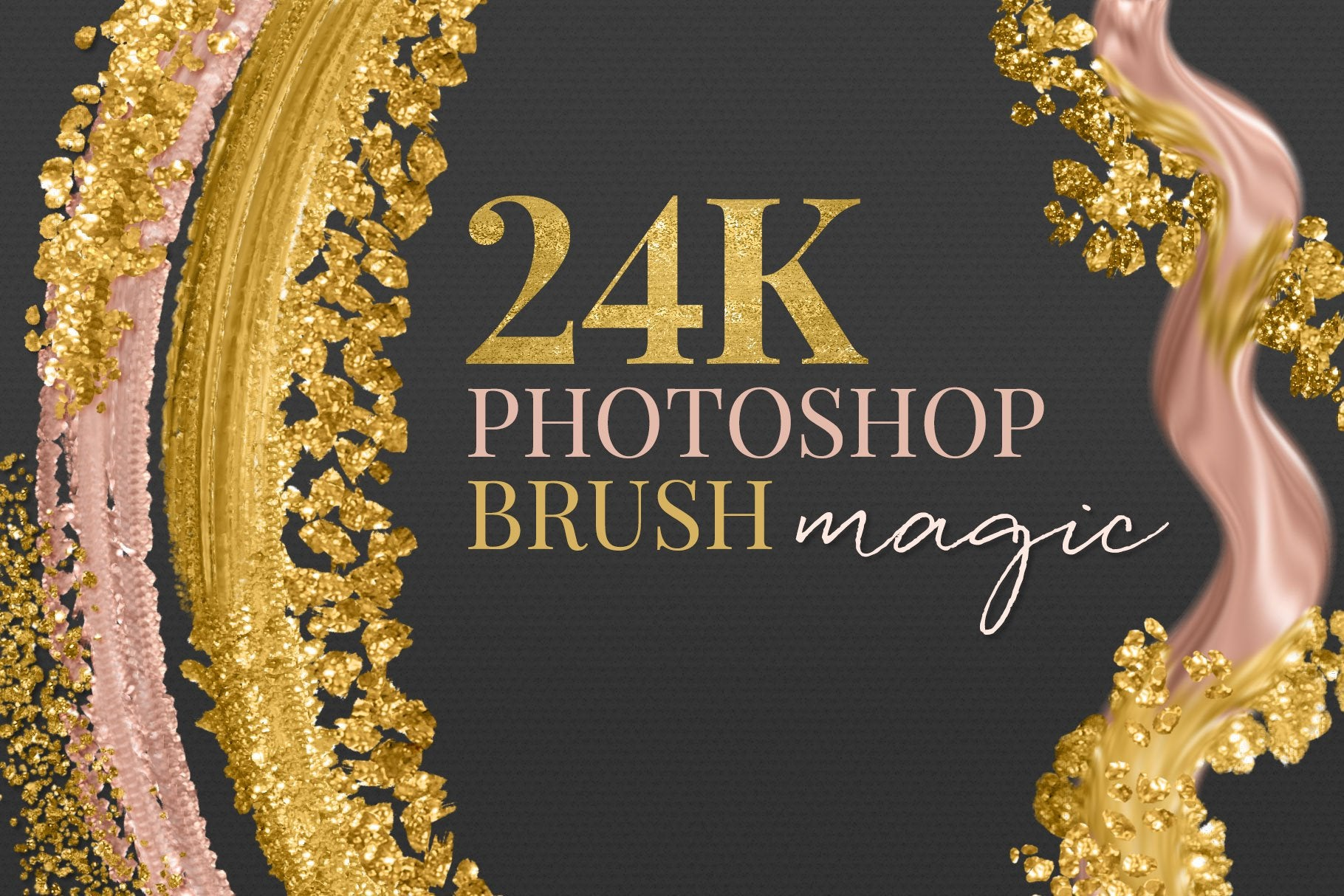 Create 24K Metallic Gold Brush Strokes & Dazzling Metallic Gold Effects with Photoshop Brushes!
