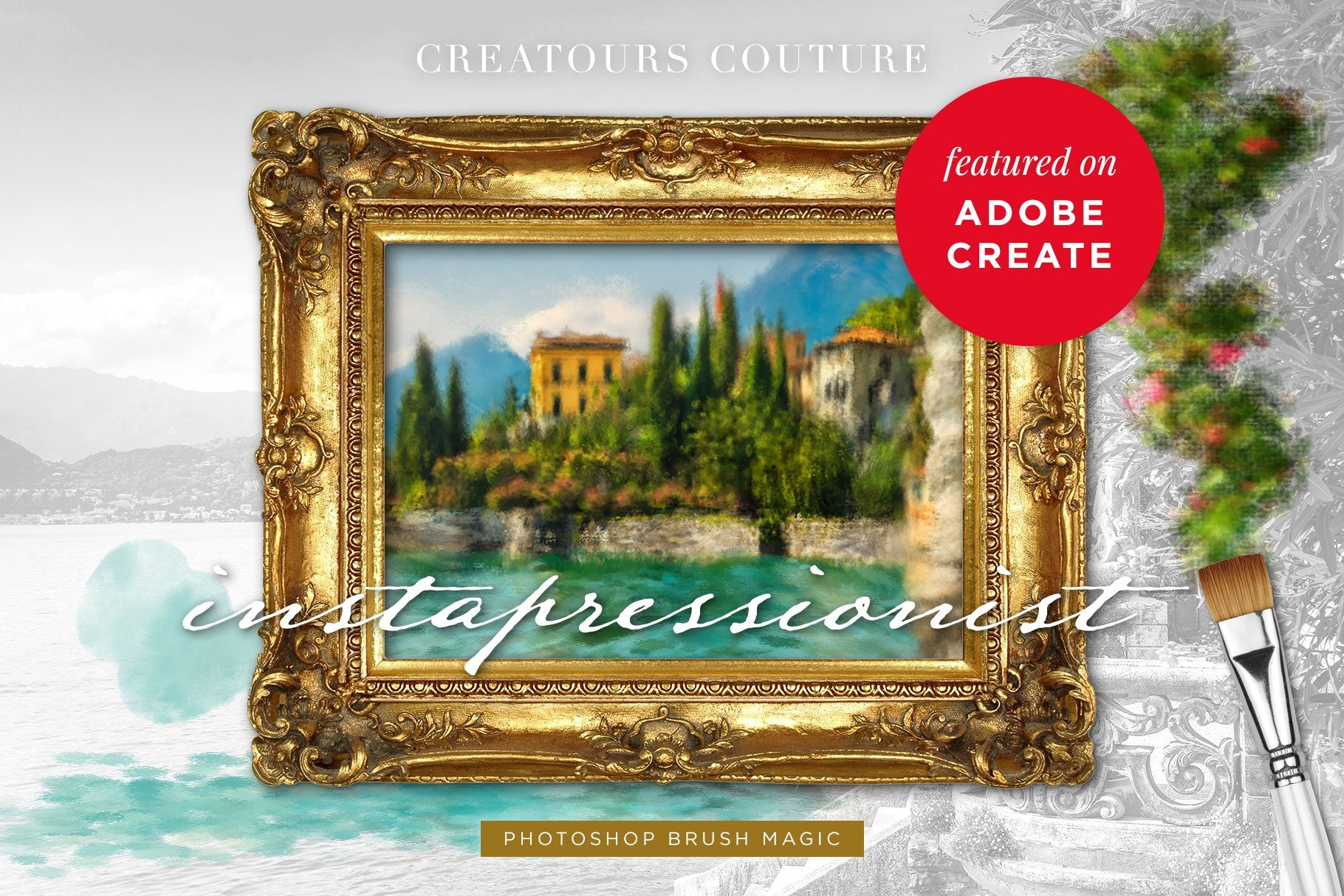 Create Impressionist Art from Any Photograph plus FREE Photoshop Brushes Featured on Adobe Create