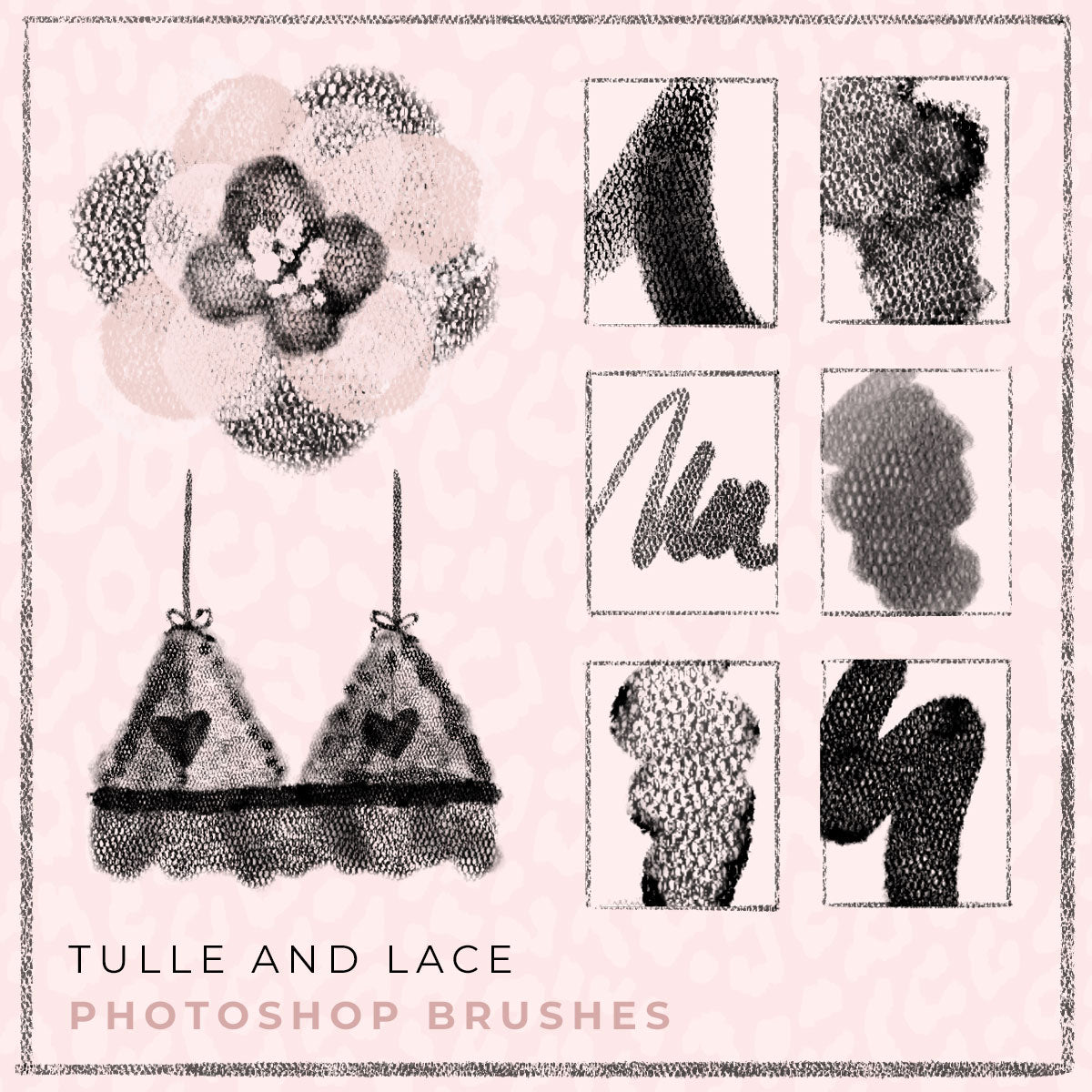 New Photoshop Brushes: Tulle and Lace Brush Collection