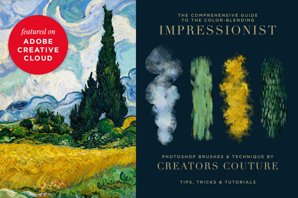"The Ultimate Guide to ""Impressionist"" Color-Blending Photoshop Brushes 