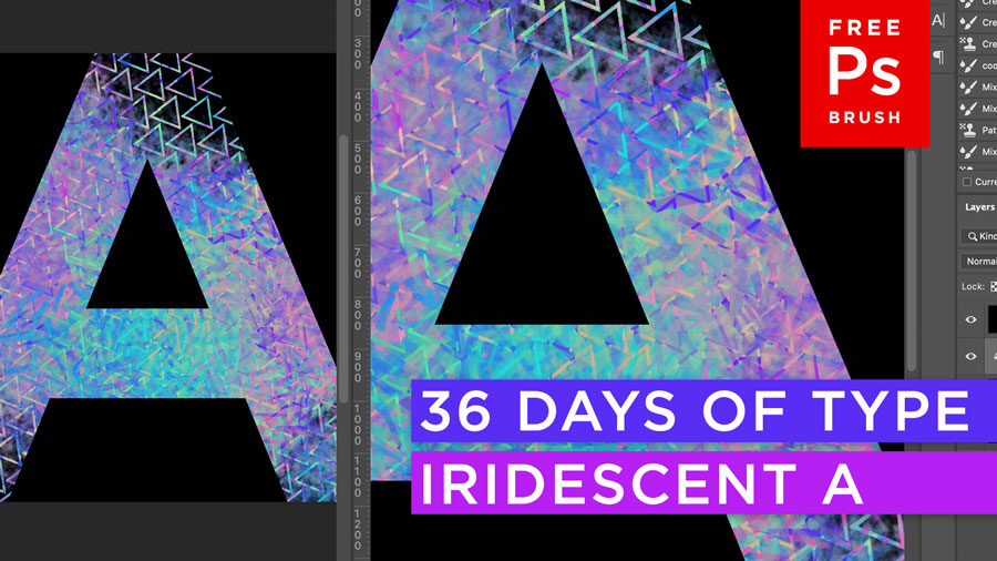 36 Days of Type Challenge & Free Adobe Photoshop Brushes!