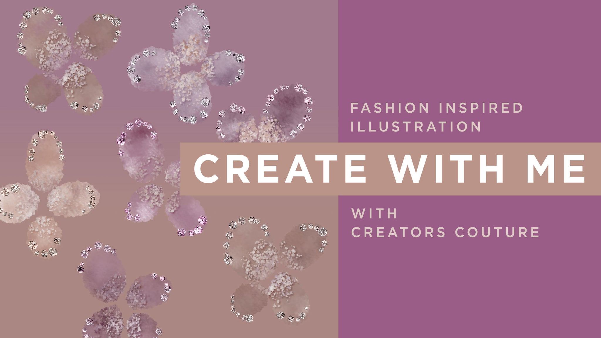 Delicate Shimmery Flower Art Inspired by Runway Style: Photoshop Tutorial