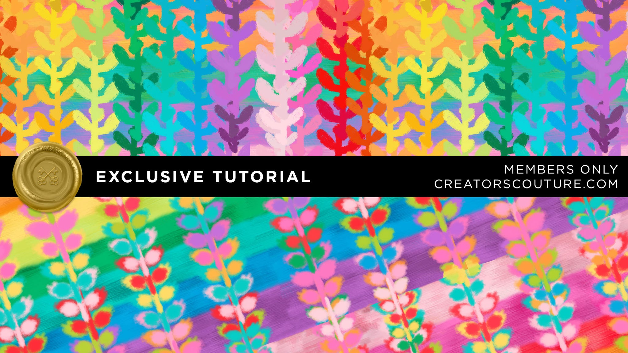 Create Bold & Bright Rainbow Digital Backgrounds / Surface Patterns