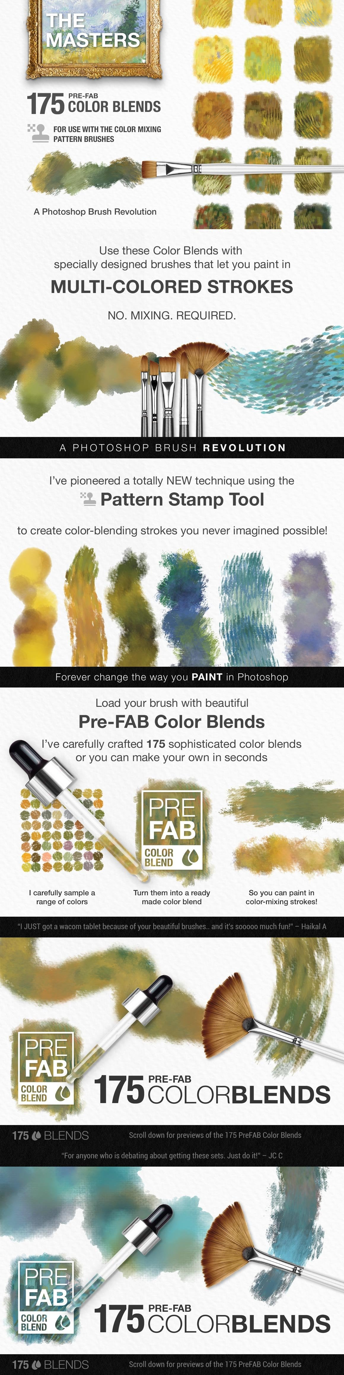 Impressionist Masters Color Blends Palette Collection & Photoshop Brush Sampler preview chart 3