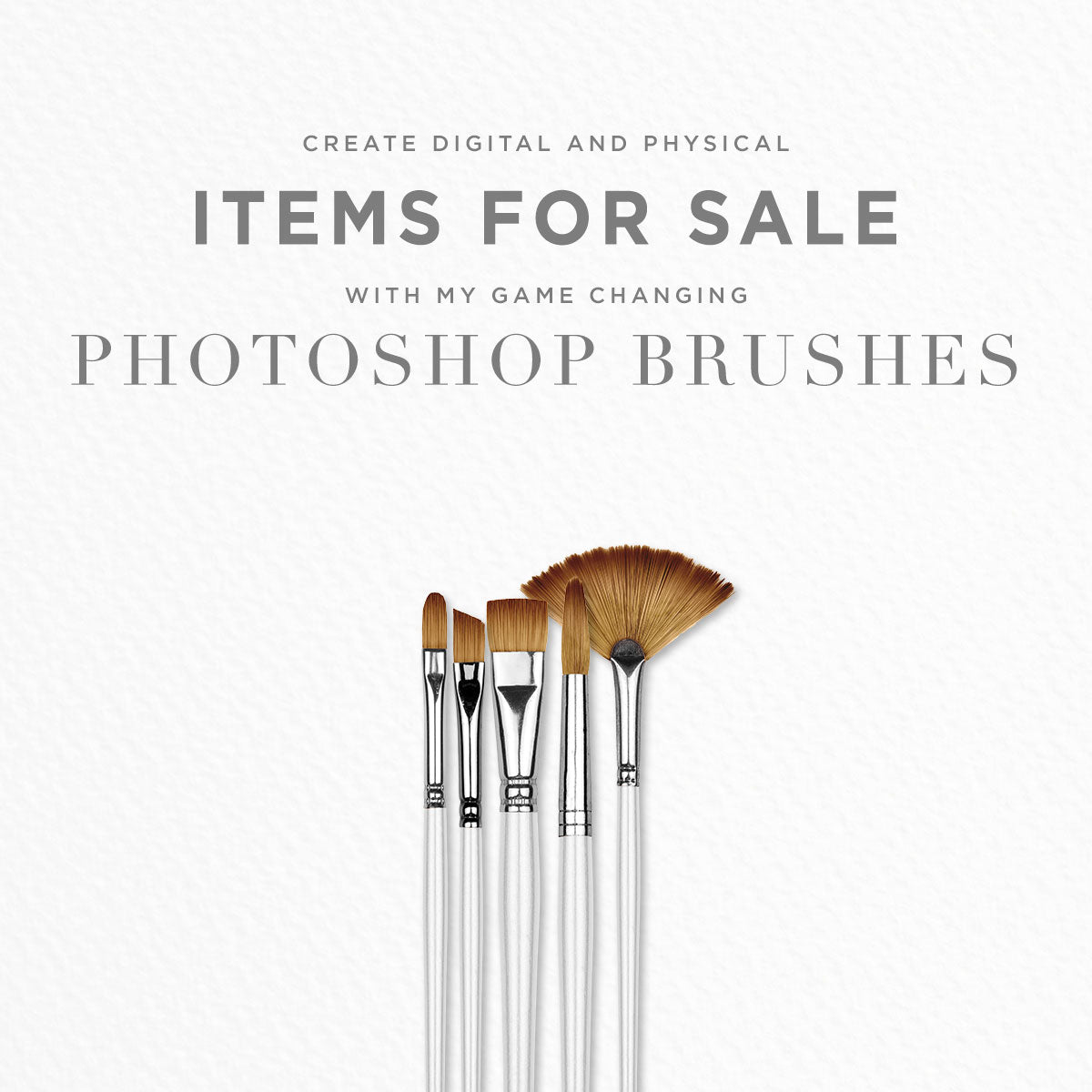 create items for sale using photoshop brushes