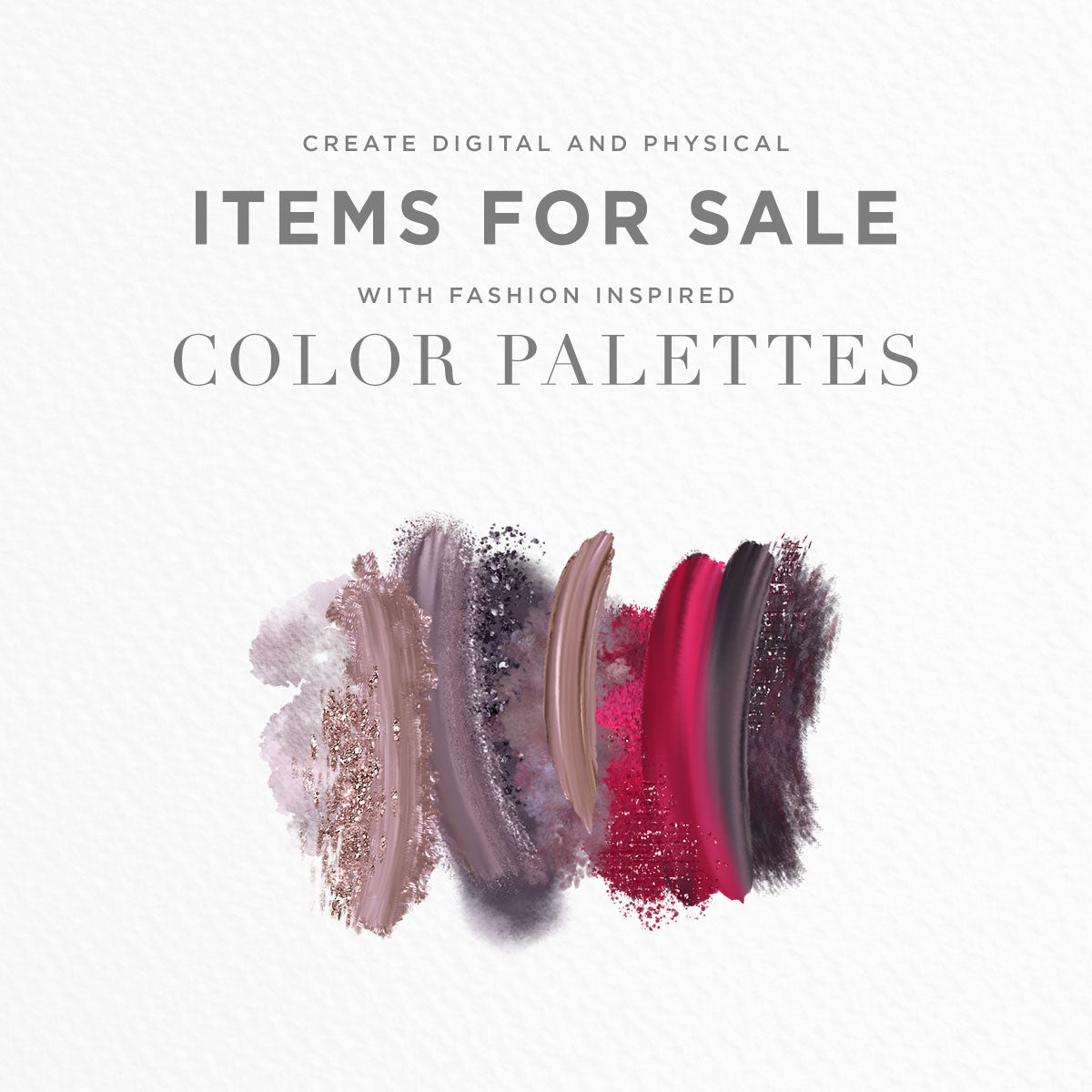 create items for sale using color palettes