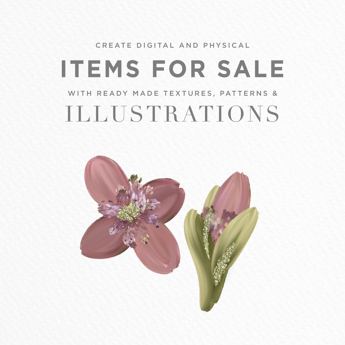 create items for sale using illustrations and patterns