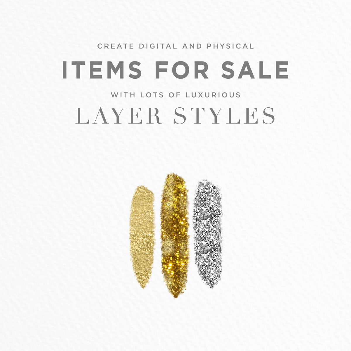 create items for sale using photoshop and illustrator layer styles