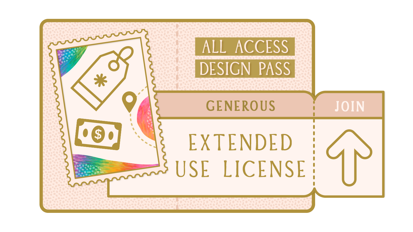 generous extended use license for small etsy design business