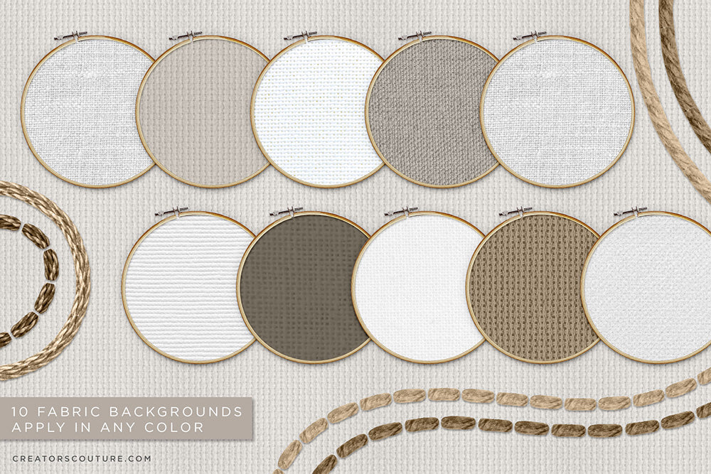 editable fabric backgrounds for embroidery effect