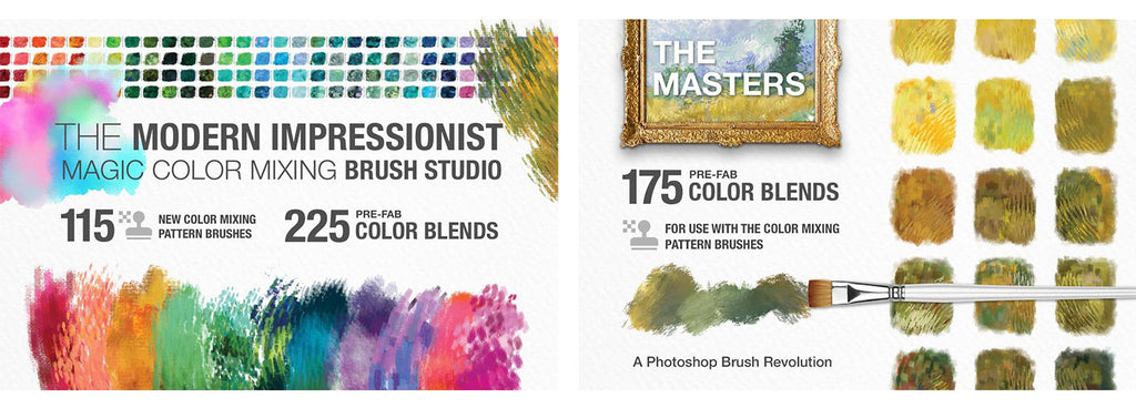 impressionist brushes for Photoshop