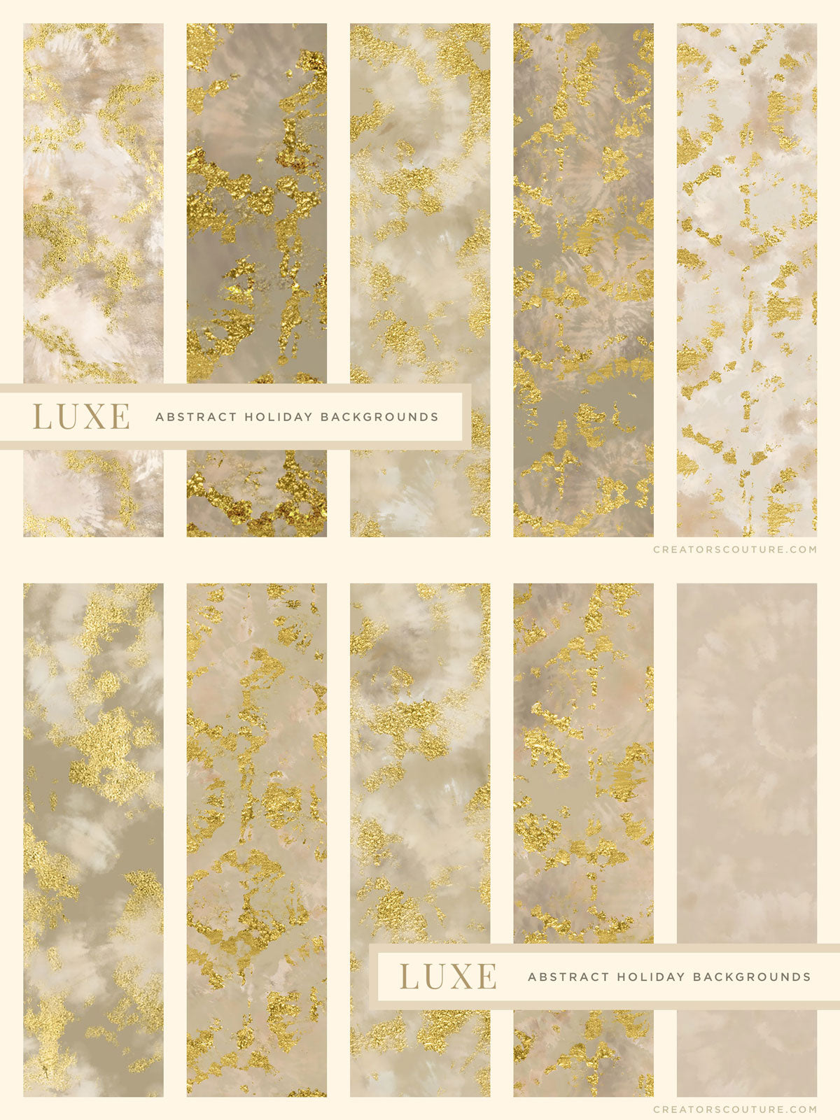 luxe christmas holiday painted backgrounds preview, white and gold paper